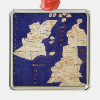 Map of the British Isles, from 'Geographia' Christmas Ornament
