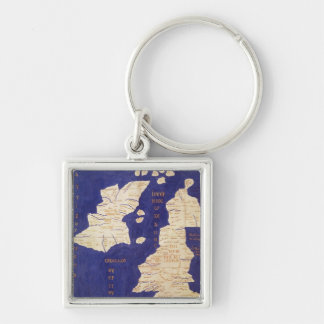 Map of the British Isles, from 'Geographia' Key Ring