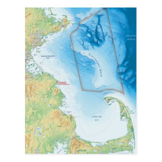 Map of the Cape Cod Bay Postcard