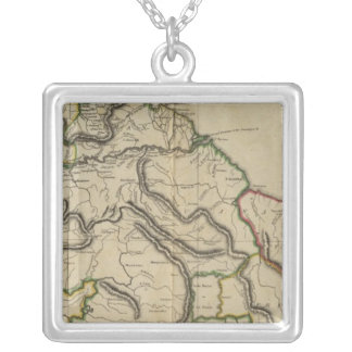 Map of the Caracas Silver Plated Necklace