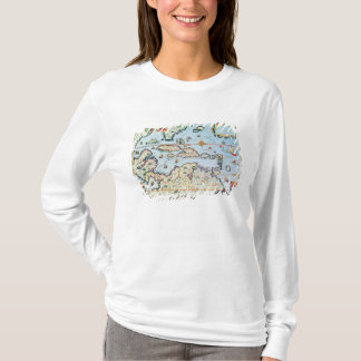 Map of the Caribbean islands T-Shirt