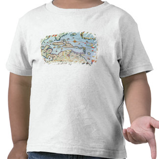 Map of the Caribbean islands T Shirts