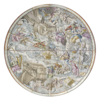 Map of the Christian Constellations as Depicted by Plate