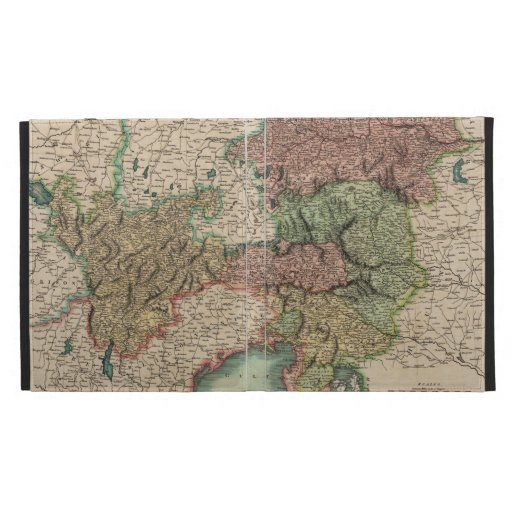 Map of the Circle of Austria in 1801 by John Cary iPad Cases