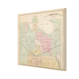 Map of the City of Albert Lea, Minnesota Canvas Print