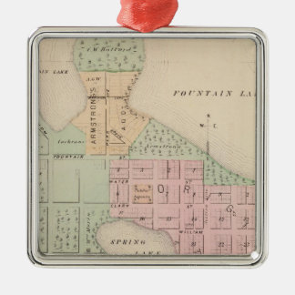 Map of the City of Albert Lea, Minnesota Christmas Ornament