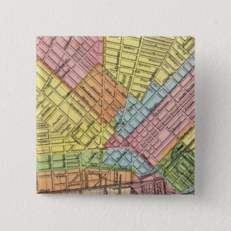 Map of The City of Buffalo 15 Cm Square Badge