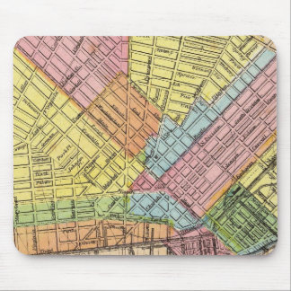 Map of The City of Buffalo Mouse Mat