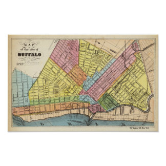 Map of The City of Buffalo Poster