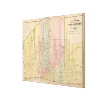 Map of the City of Detroit Canvas Print