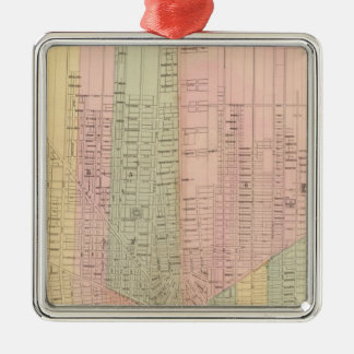 Map of the City of Detroit Christmas Ornament