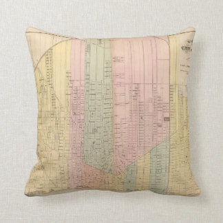Map of the City of Detroit Cushion