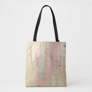 Map of the City of Detroit Tote Bag