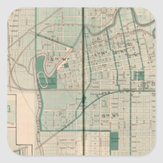 Map of the City of Fort Wayne with Cedarville Square Sticker