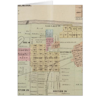 Map of the City of Mankato, Minnesota Card