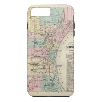 Map of the City of Milwaukee, Milwaukee Co iPhone 8 Plus/7 Plus Case