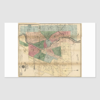 Map of the City of Rochester New York (1879) Rectangular Sticker