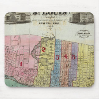 Map of The City of St. Louis Mouse Mat