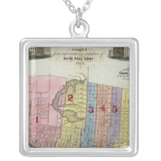 Map of The City of St. Louis Silver Plated Necklace