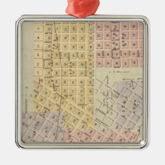 Map of the City of St. Peter, Minnesota Christmas Ornament