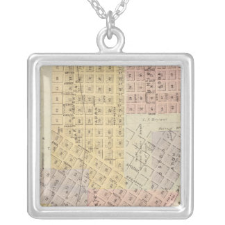 Map of the City of St. Peter, Minnesota Silver Plated Necklace