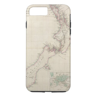 Map of the Colony of New Zealand iPhone 8 Plus/7 Plus Case