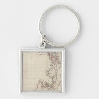 Map of the Colony of New Zealand Keychains