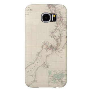 Map of the Colony of New Zealand Samsung Galaxy S6 Cases