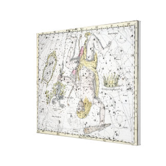 Map of The Constellations Plate VIII Canvas Print