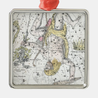 Map of The Constellations Plate VIII Christmas Ornament