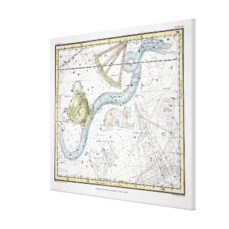 Map of The Constellations Plate XXVI Canvas Print