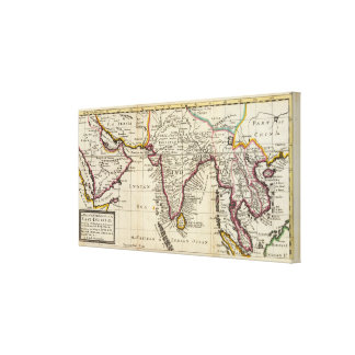Map of the continent of the East Indies Gallery Wrapped Canvas