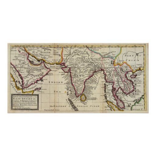 Map of the continent of the East Indies Posters