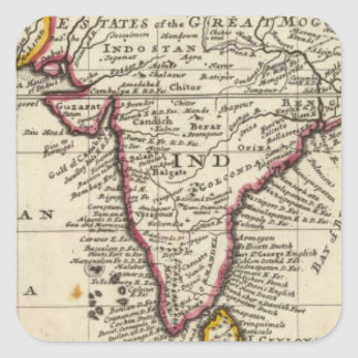 Map of the continent of the East Indies Square Sticker