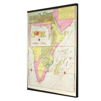Map of the Countries of Africa Canvas Print