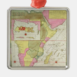 Map of the Countries of Africa Christmas Ornament