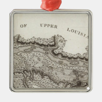 Map of the Country Of The Illinois Silver-Colored Square Decoration