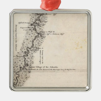 Map of the Course of The Mississippi 2 Christmas Ornament