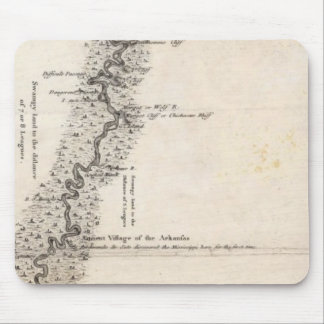 Map of the Course of The Mississippi 2 Mouse Mat