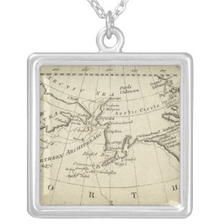 Map of the Discoveries made by Capts Cook & Clerk Silver Plated Necklace