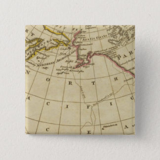 Map of the Discoveries made by Cook and Clerke 15 Cm Square Badge