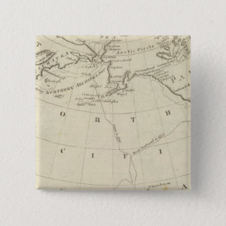 Map of the Discoveries made by Cook and Clerke 2 15 Cm Square Badge