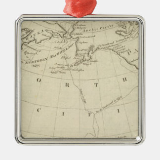 Map of the Discoveries made by Cook and Clerke 2 Christmas Ornament