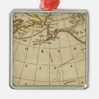 Map of the Discoveries made by Cook and Clerke Christmas Ornament
