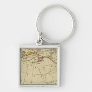 Map of the Discoveries made by Cook and Clerke Key Ring
