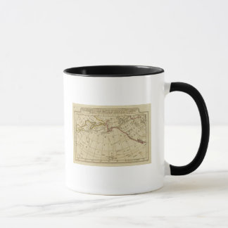 Map of the Discoveries made by Cook and Clerke Mug