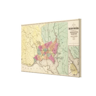 Map of the District of Columbia, Washington Canvas Print