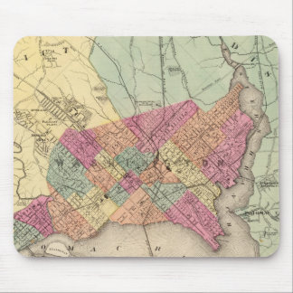 Map of the District of Columbia, Washington Mouse Mat