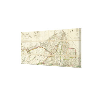 Map of the District of Montreal, Lower Canada Gallery Wrap Canvas