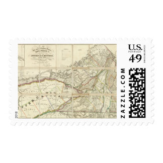 Map of the District of Montreal, Lower Canada Postage Stamp
